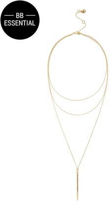 Mira Layered Necklace $36 thestylecure.com