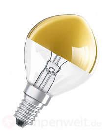 E14 40W Kopfspiegellampe gold, warmweiß
