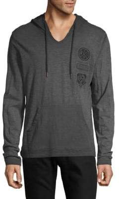 Buffalo David Bitton Embroidered Cotton Hoodie