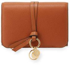 Chloé Alphabet Pebbled Leather Compact Wallet