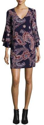 Ella Moss Riya Tiered-Sleeve Paisley Dress $198 thestylecure.com