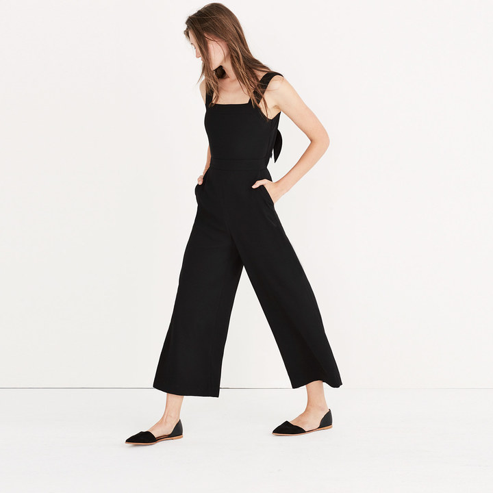 Apron Bow-Back Jumpsuit