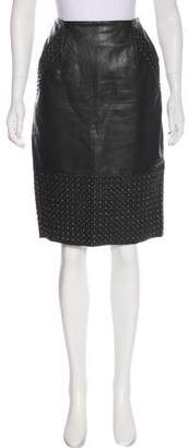 French Connection Studded Leather Skirt