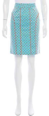 Blumarine Printed Polka Dot Skirt