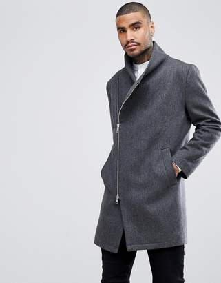 Religion Coat With Asymmetric Zip