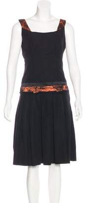 Sophie Theallet Lace-Trimmed A-Line Dress w/ Tags