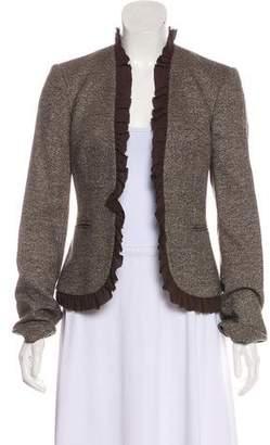 Michael Kors Ruffle-Trimmed Virgin Wool Blazer