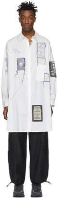 Yohji Yamamoto White Emblem Patch Shirt