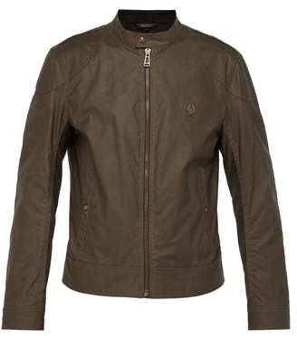 Belstaff Kelland Waxed Cotton Racer Jacket - Mens - Brown