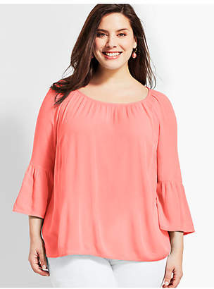 Talbots Plus Size Exclusive Lightweight Gauze Tunic