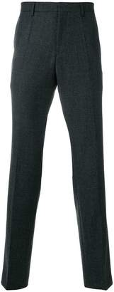 HUGO BOSS textured straight-leg trousers