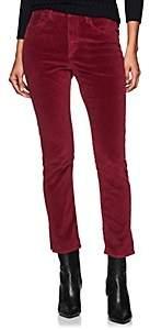 3x1 Women's Higher Ground Mini Split Velvet Pants - Wine