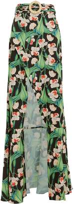 PatBO Floral Belted Maxi Skirt