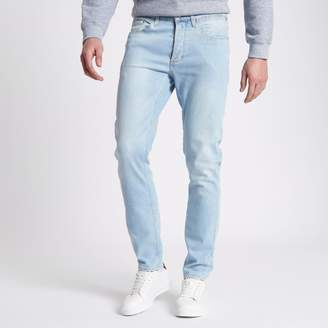 River Island Mens Light Blue Sid skinny jeans