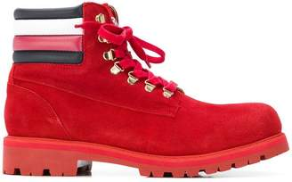 Tommy Hilfiger logo stripe boots