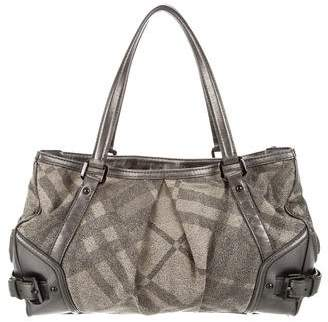 9a4941590ba8 Pre-Owned at TheRealReal · Burberry Shimmer Nova Check Tote