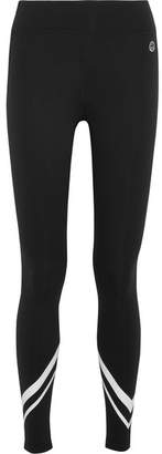 Tory Sport Printed Stretch-tactel Leggings - Black
