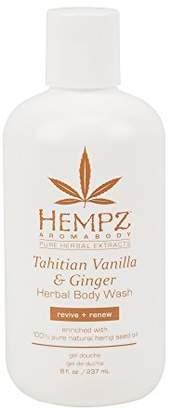 Hempz Tahitian Vanilla & Ginger Body Wash - 8 Ounce