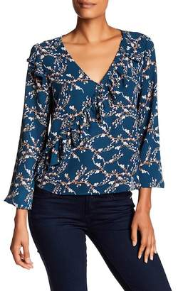 Melrose and Market Long Sleeve Ruffle Top