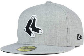 half off 6e773 a0766 ... uk new era boston red sox heather black white 59fifty fitted cap c157f  a7396
