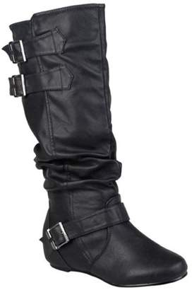 Co Brinley Womens Low-Wedge Buckle Slouch Boot