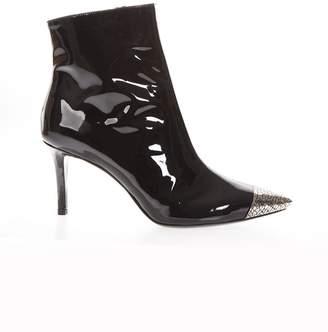 Marc Ellis Black Patent Metal Toe Boots