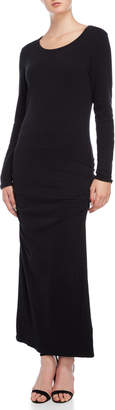 James Perse Black Long Sleeve Maxi Dress