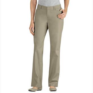 Dickies Curvy-Fit Straight-Leg Stretch Twill Pants