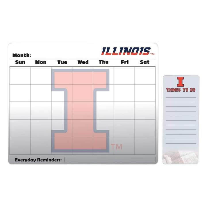 Kohl's Illinois Fighting Illini Magnetic Dry Erase Calendar & To-Do Board Set