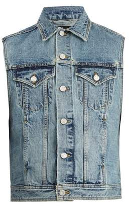 Fear Of God - Logo Patch Denim Gilet - Mens - Blue
