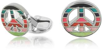 Paul Smith Men's Striped Peace Cufflinks