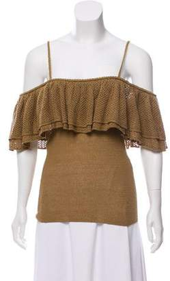 Ronny Kobo Off-The-Shoulder Knit Top w/ Tags
