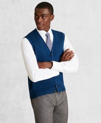 Brooks Brothers Golden Fleece 3-D Knit Fine-Gauge Merino Button-Front Vest