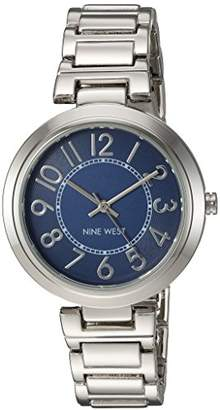 Nine West Women's NW/1893BLSB Easy To Read Dial Silver-Tone Bracelet Watch