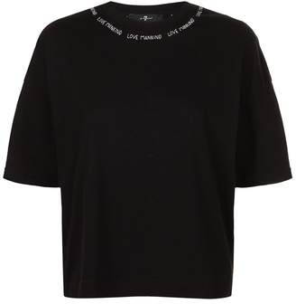 7 For All Mankind Embroidered Collar T-Shirt