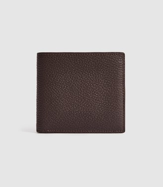 Reiss Bishop - Leather Wallet in Dark Brown