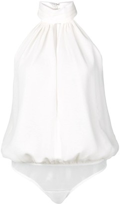 Fleur Du Mal keyhole draped bodysuit
