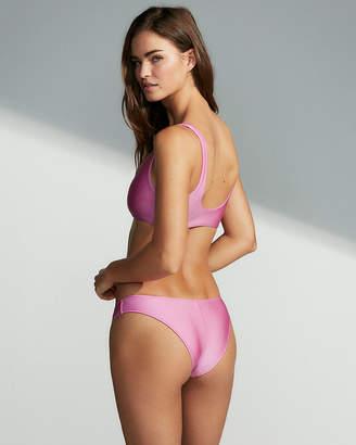 Express Shimmer Ultra High Leg Bikini Bottoms