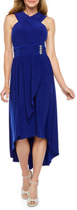 Scarlett Sleeveless Embellished High Low Evening Gown