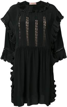 Twin-Set ruffle detail dress