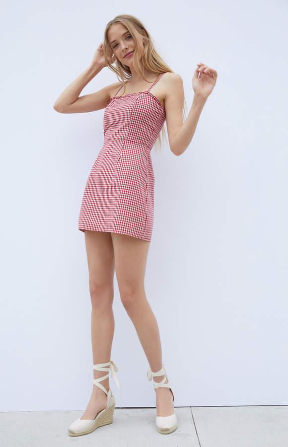 Kendall & Kylie Smocked Back Shift Dress