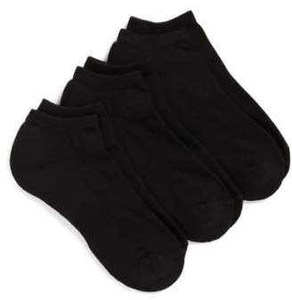 Nordstrom 3-Pack No-Show Athletic Socks