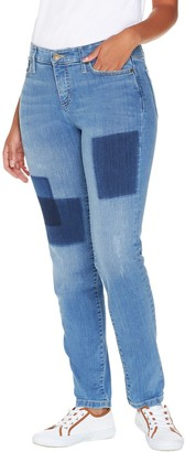 Isaac Mizrahi Live! Regular TRUE DENIM Removed Patch Jeans