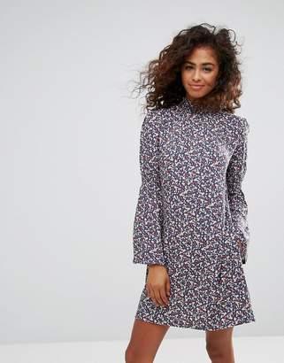 Esprit Flare Sleeve Floral Ditsy Dress