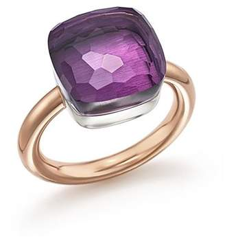 Pomellato Nudo Maxi Ring with Amethyst in 18K Rose and White Gold