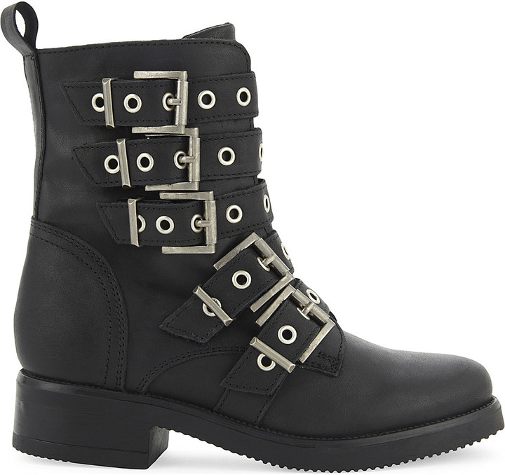 Aldo Aldo Waw leather biker boots