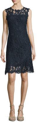 Elie Tahari Harlow Sleeveless Lace Dress, Starg/Navy $448 thestylecure.com