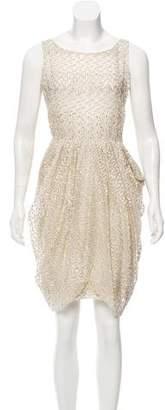 Jason Wu Silk Fil-Coupé Dress