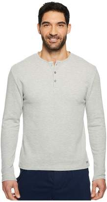 Kenneth Cole Reaction Long Sleeve Waffle Crew Single Men's Pajama