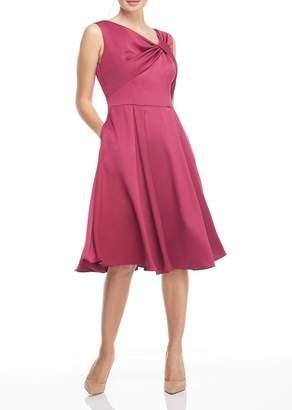 Gal Meets Glam Sleeveless Twist Neck Dress